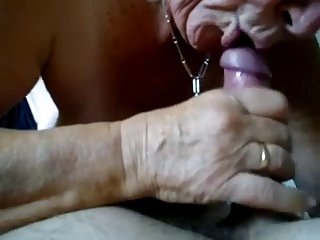 Granny likes to suck and swallow