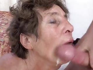 Granny gives head and get fucked hard