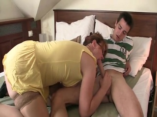 His housewife finds them making love and has mad