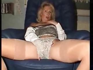 Hot Granny Shows Off And Fingers Her Beautiful Pink Pussy