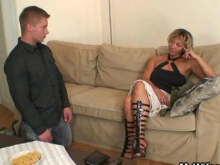 Hot mother-in-law sucks and rides his dick