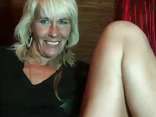 Very hairy German blonde mature granny