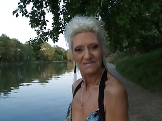 French Blonde Granny Loves Young Cock Deep in Her Ass