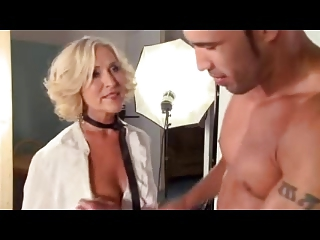 Milf seduces young dude!