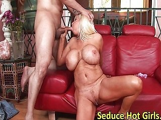 Big tits blonde fucked from behind