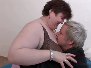 Mature BBW enjoying sex.