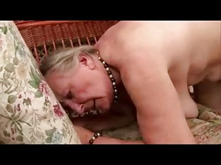 Old Grey Haired Granny Lusting For Cock