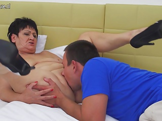 Granny getting fucked by her toy boy