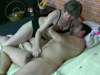 Horny young man fucking with a fat bbw woman