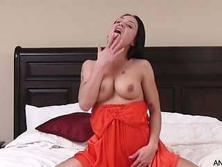 Anal loving mom dildo fucks her ass