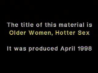 Older Women Hotter Sex 1998